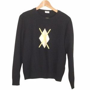 Lucia Vintage 50% new wool Sweater Black
